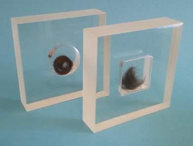 locken in dosen gegossen gr e 100 x 100 x 25 mm seiten matt geschliffen kunstharz giessen. Black Bedroom Furniture Sets. Home Design Ideas